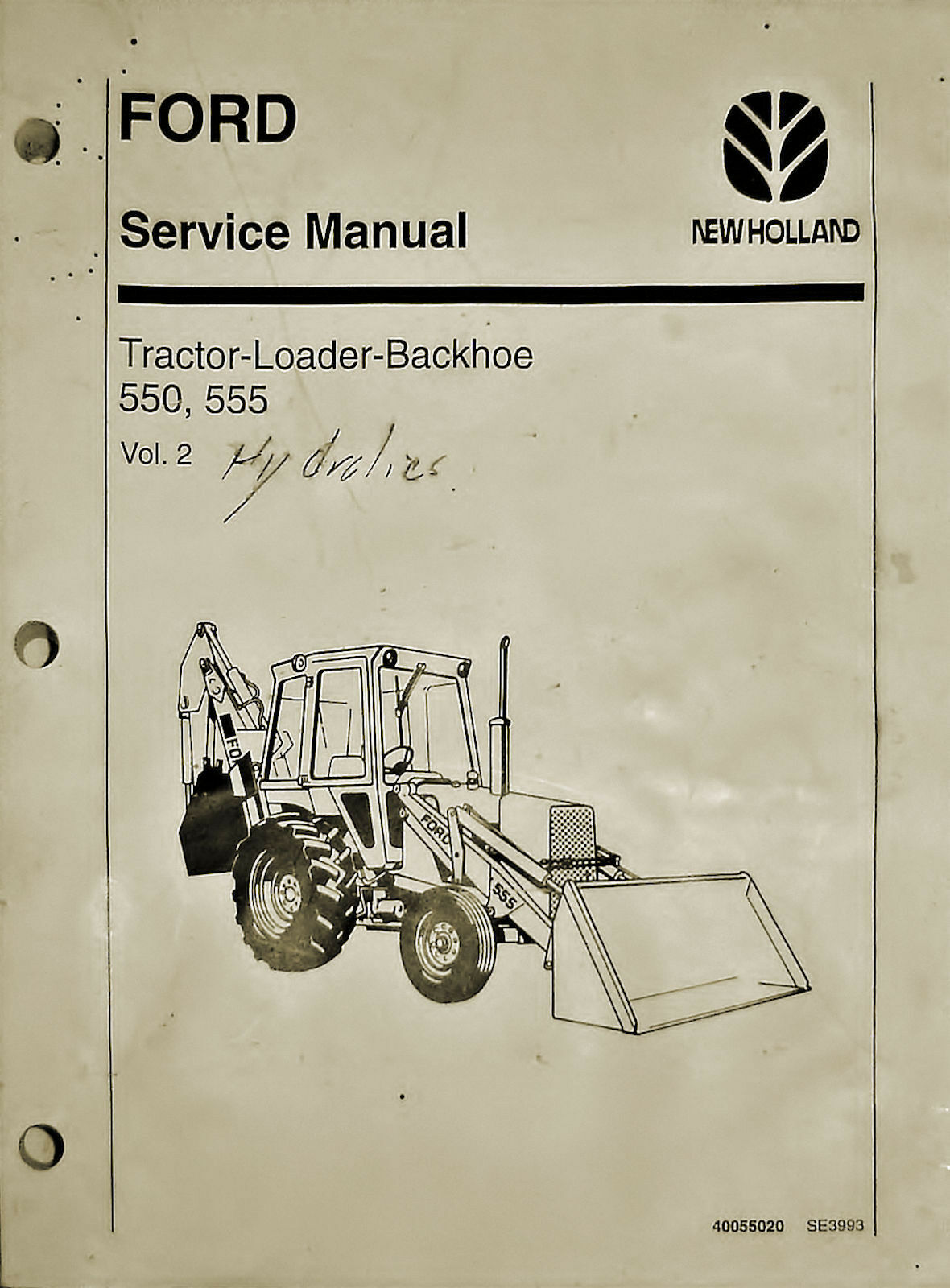 Ford/new Holland 550, 555 Tractor-Loader-Backhoe Service Manual Volume 2 1  of 1Only 1 available See More