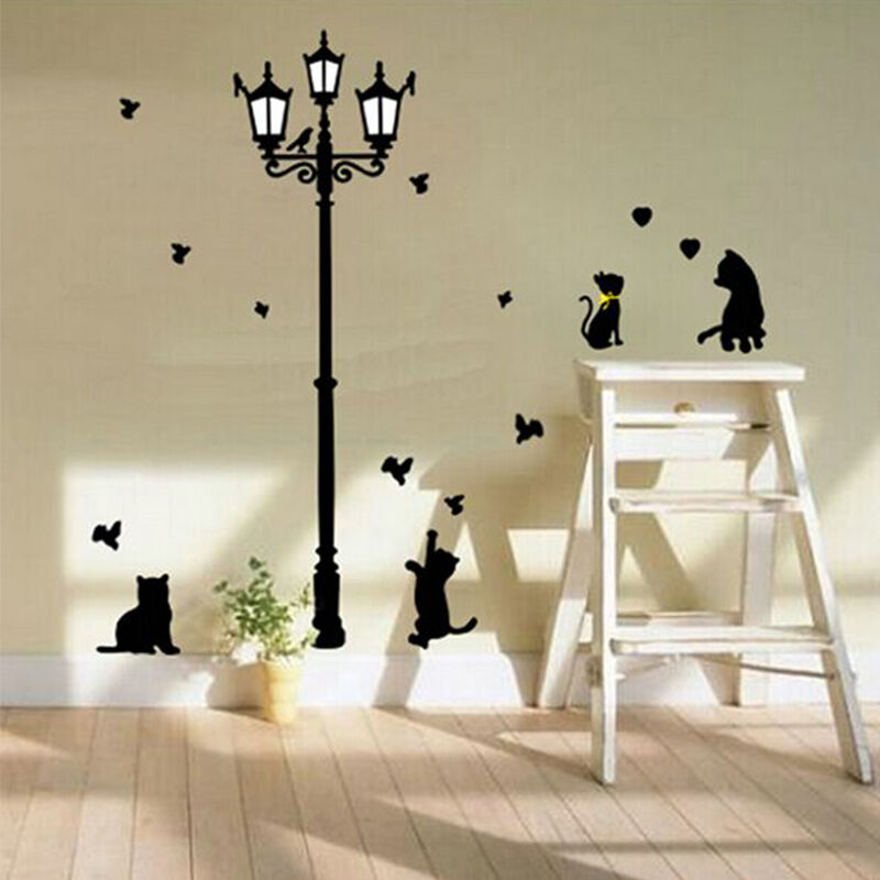 Pegatinas de pared etiqueta engomada polos gato decoraci n for Pegatinas pared ninos