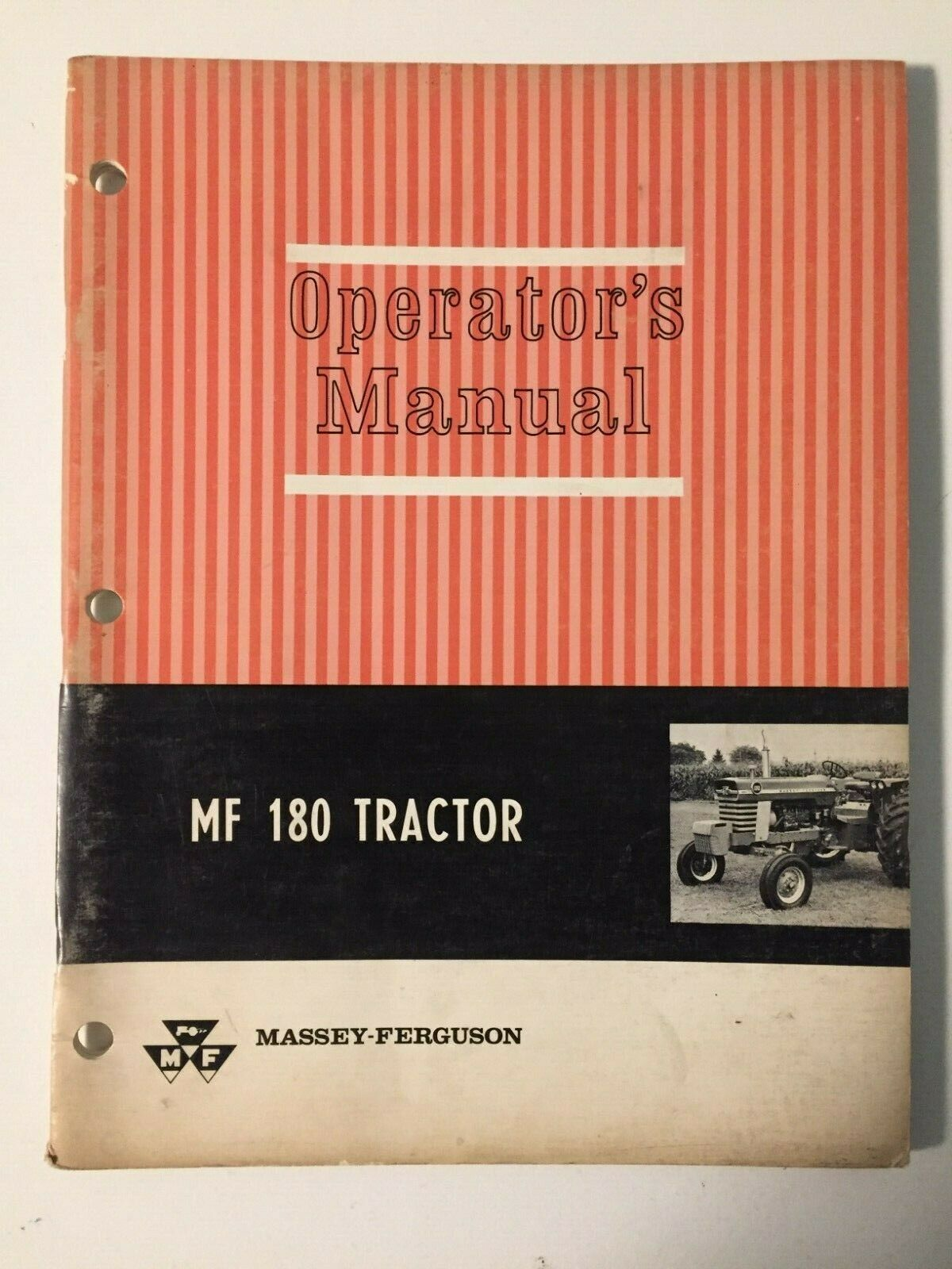 Massey-Ferguson MF 180 Gas & Diesel Tractor Operator's Owner's Manual, near  MINT 1 of 1Only 1 available See More