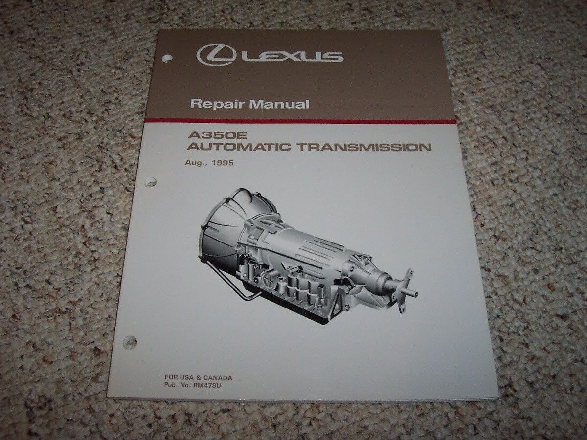 1996 Lexus GS300 GS 300 A350E Transmission Shop Service Repair Manual 1997  1 of 1Only 1 available ...