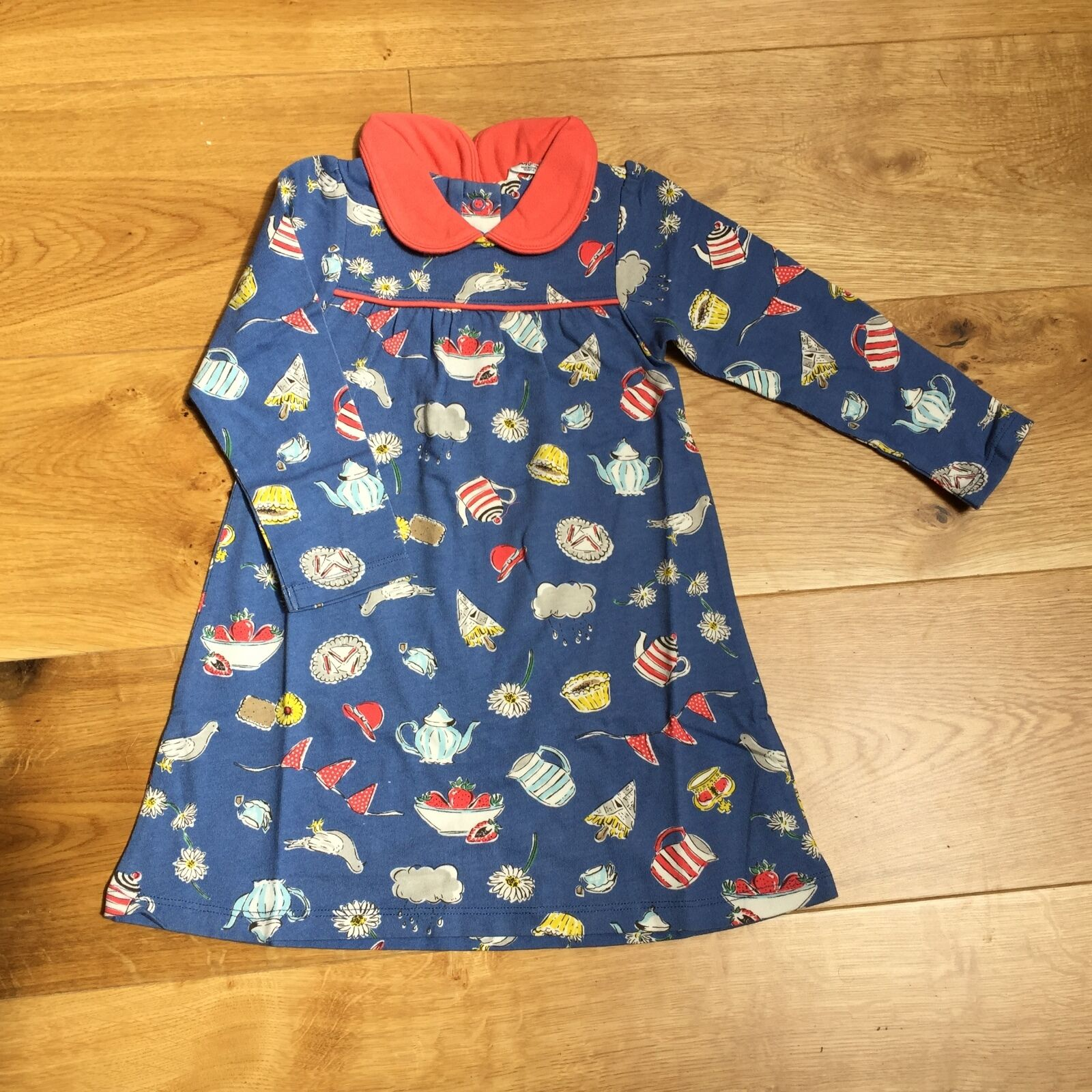 Baby girls ex mini boden peter pan collar jersey dress 0 3 for Mini boden germany