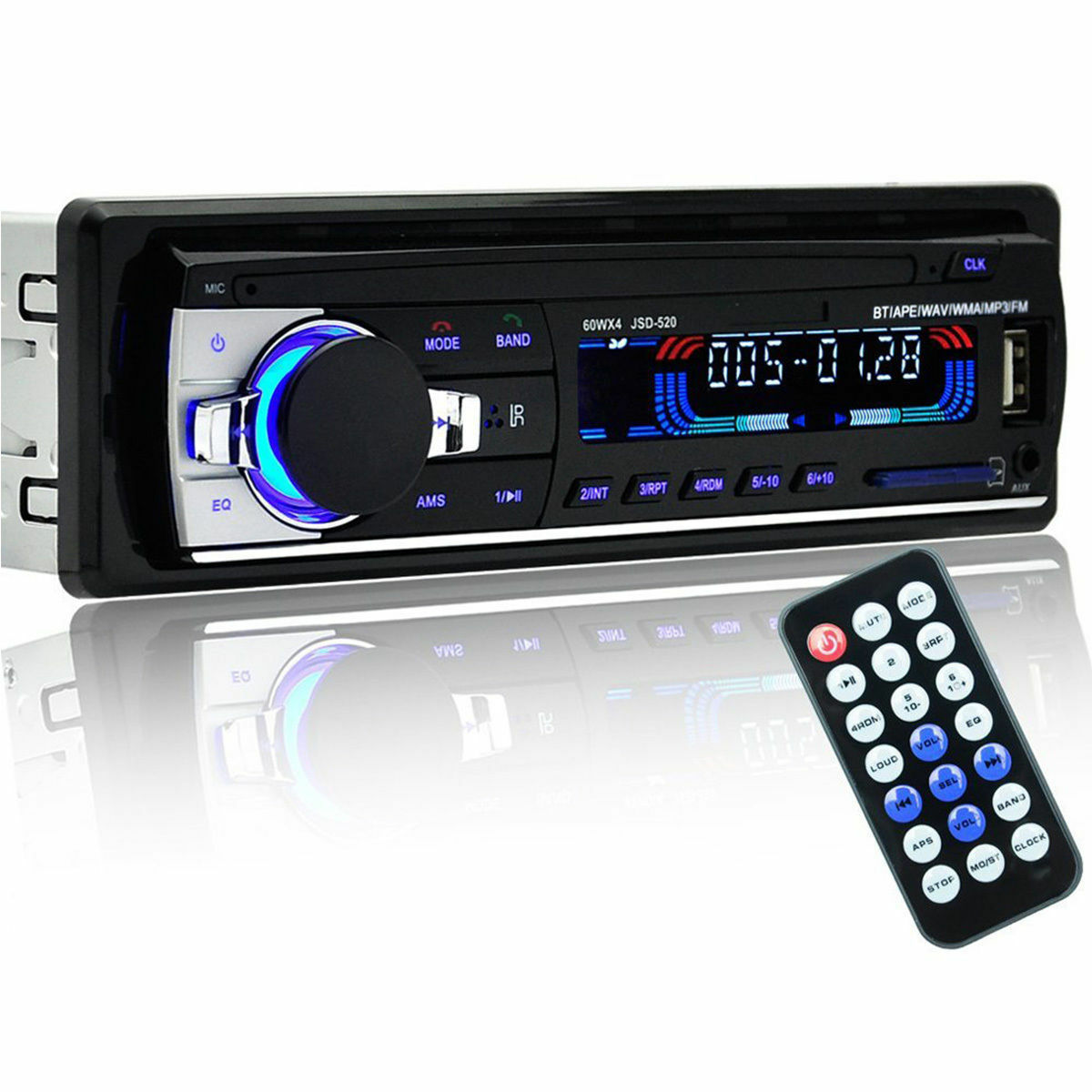 bluetooth car stereo radio head unit player mp3 usb sd aux in fm in dash ipod uk. Black Bedroom Furniture Sets. Home Design Ideas