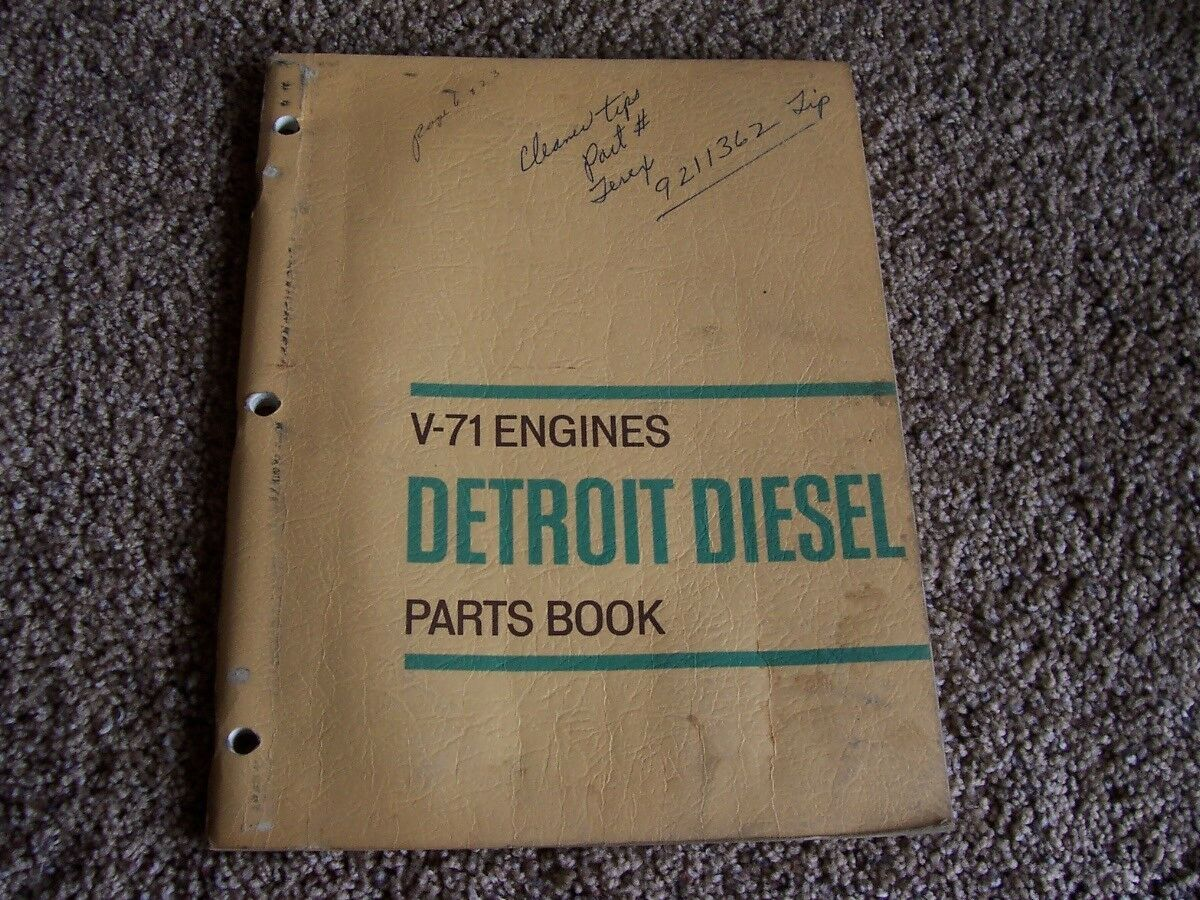 Detroit Diesel Series V-71 V71 Engine Parts Catalog Manual 6 8 12 14 16 1  of 1Only 1 available ...