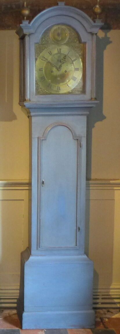 18Th Cent Painted 8 Day Long Case Clock