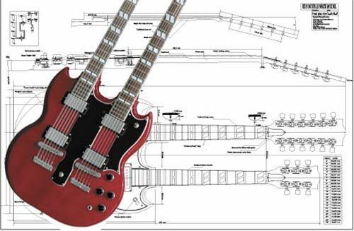 Gibson EDS%C2%AE Double Neck SG%C2%AE Electric Guitar Full Scale Plan gibson eds 1275 double neck wiring diagram wiring diagrams Les Paul Classic Wiring Diagram at mifinder.co