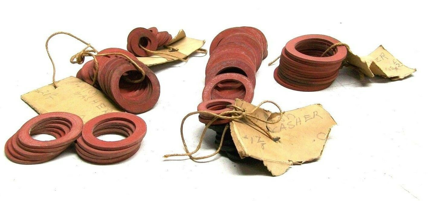 """Lot Of 80 Nos Vintage Rubber Union Washers 3/8"""" - 1 1/4"""" Dm"""