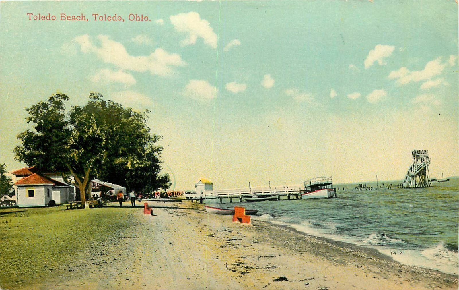 Toledo Oh Beach 1910 Postcard P C 1 Of 2only Available