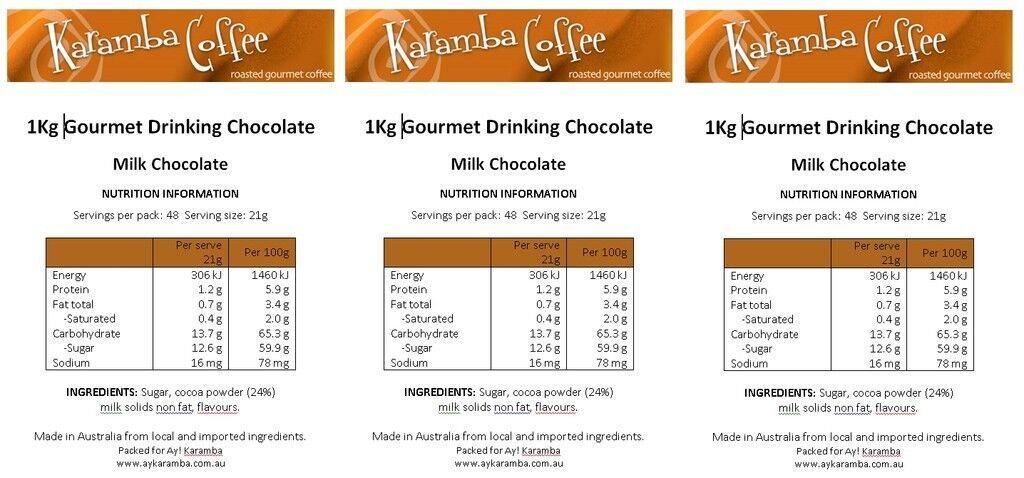 Hot Chocolate 1Kg, 24% cocoa, MILK Chocolate, Highest Quality