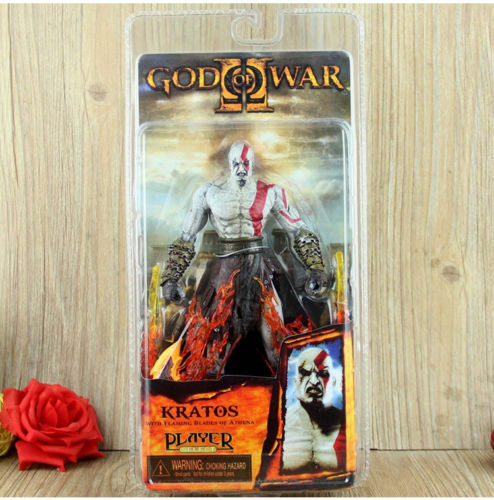 7 God Of War 2 Kratos Flaming Blades Athena PVC Action Figure FIGURINES 1 4Only 3 Available