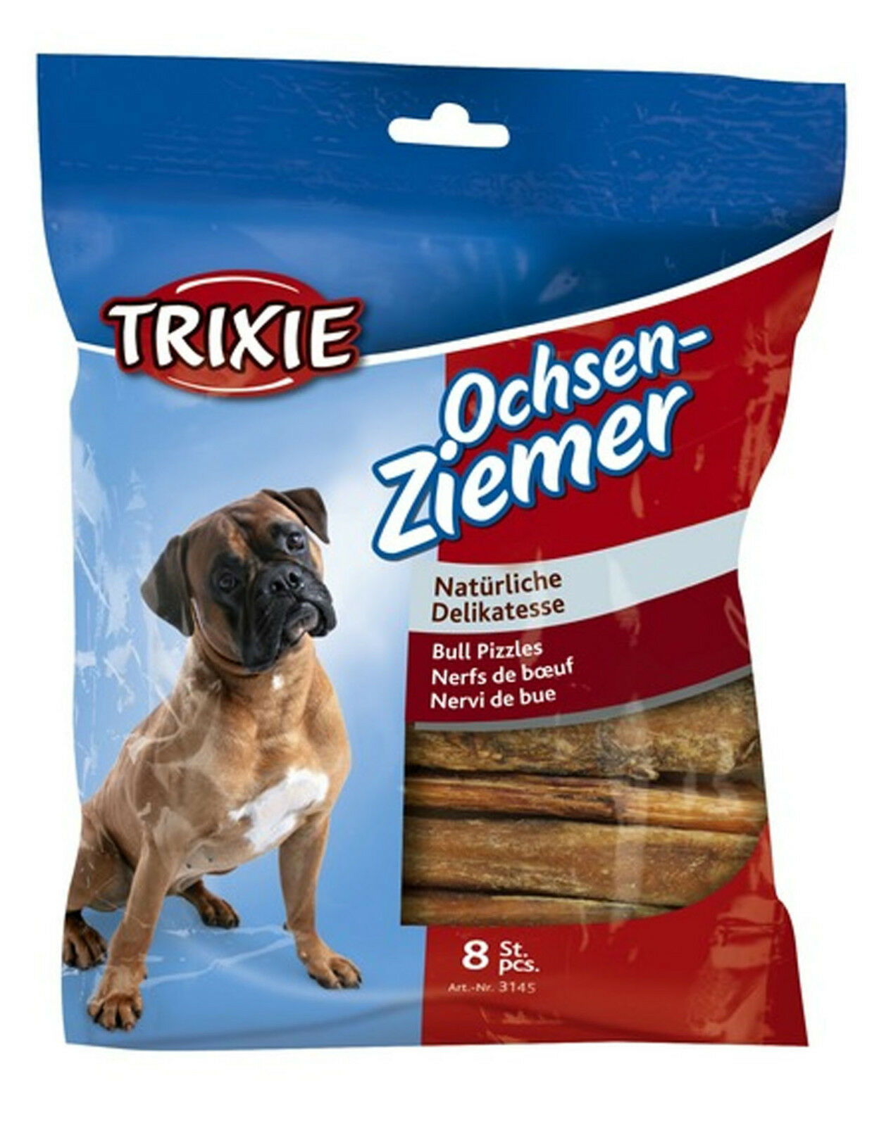 trixie bull pizzles bully sticks 12cm pack of 8 dog treats chews 100g mpn 3145 eur 6 74. Black Bedroom Furniture Sets. Home Design Ideas