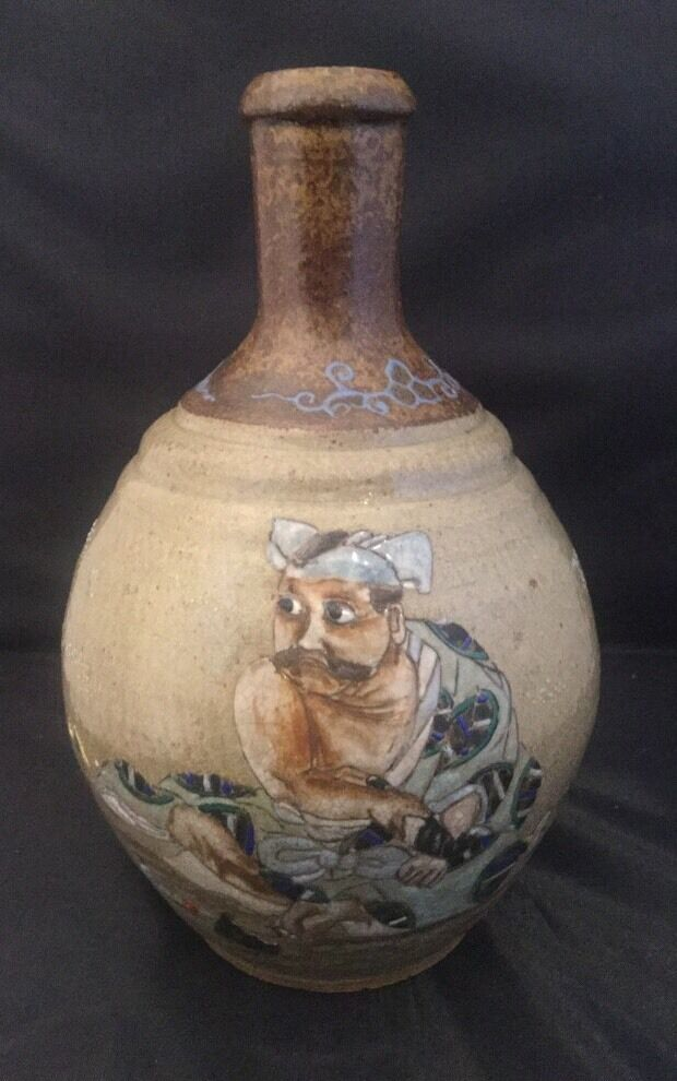 Antique Japanese Sake Bottle Vase 11900 Picclick