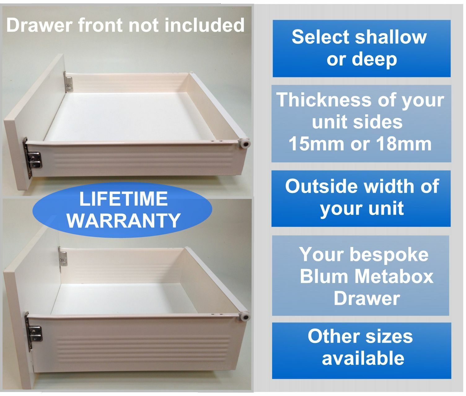 replacement kitchen drawers plete drawer box kit all sizes