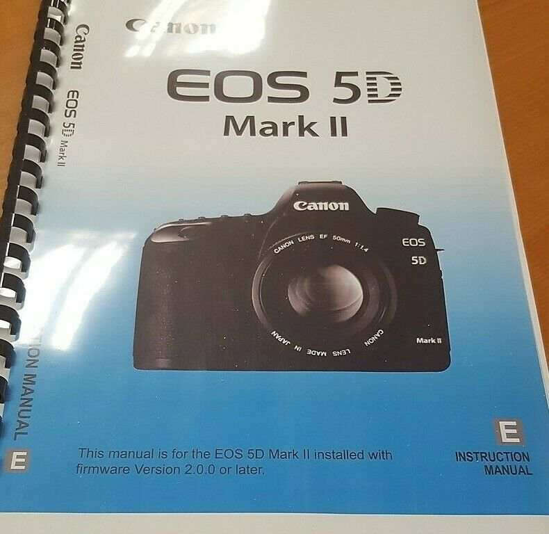 canon eos 5d mark ii printed instruction manual user guide 260 pages rh picclick co uk canon 5d mark iii user guide eos 5d mark iii user guide