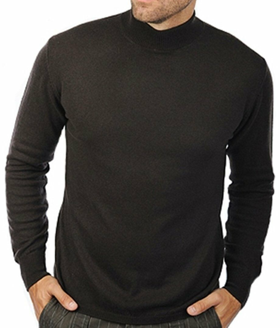 balldiri 100 cashmere kaschmir herren pullover stehkragen 2 f dig dunkelbraun m eur 199 00. Black Bedroom Furniture Sets. Home Design Ideas