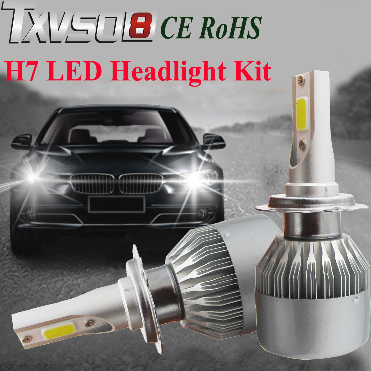 110w h7 cree led ampoule phare light headlight kit 6000k voiture feux car lampes eur 29 99. Black Bedroom Furniture Sets. Home Design Ideas
