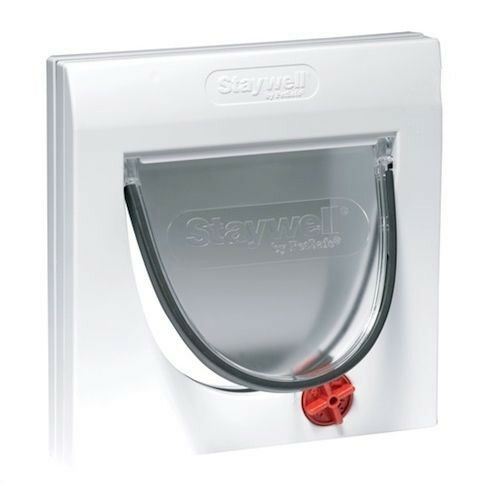 Staywell 919 And Tunnel Extension 4 Way Locking Cat Flap For Walls Doors & Glass