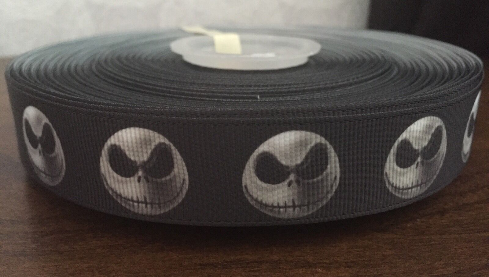 1M NIGHTMARE BEFORE Christmas Jack Halloween Black White Grosgrain ...