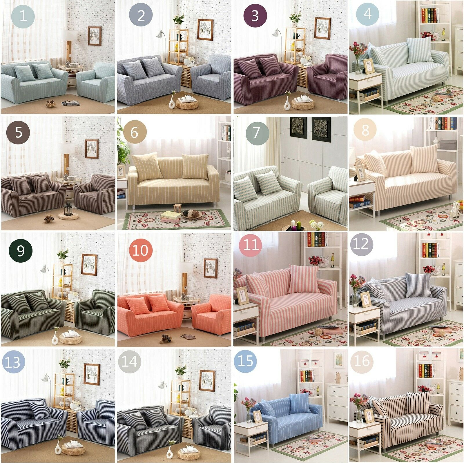Elastic fitted stretch sofa covers sofa slip covers couch settee1