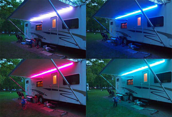 Couleur rgb remplacement phare led 12v caravane camping for Eclairage led exterieur 12v