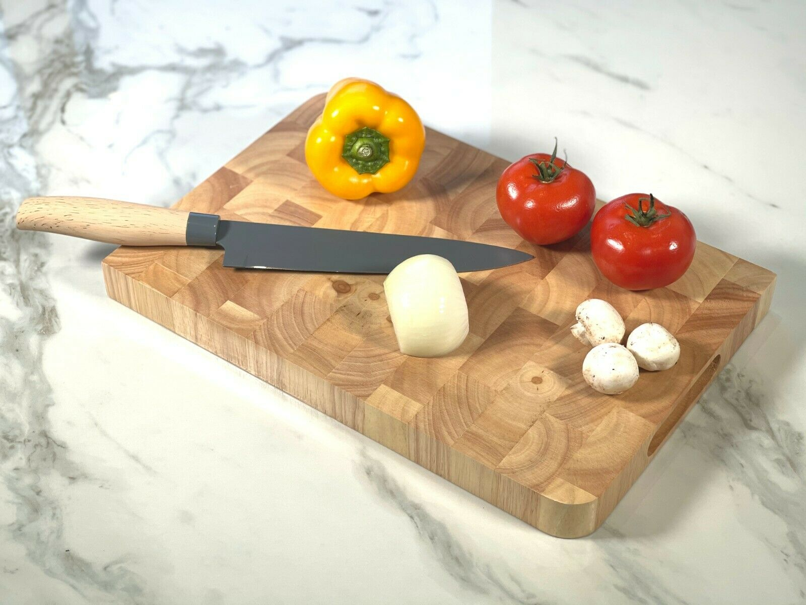 Large Black Granite Chopping Board Speckled Stone Worktop