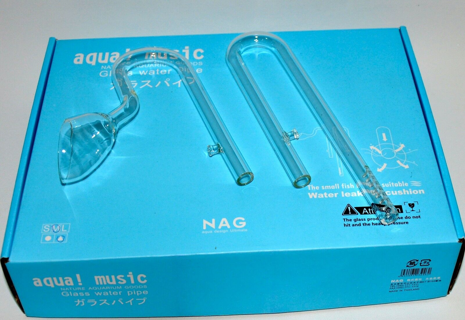 Aquarium Glass Inflow Outflow Lily Water Pipe Filter 12/16mm NAG
