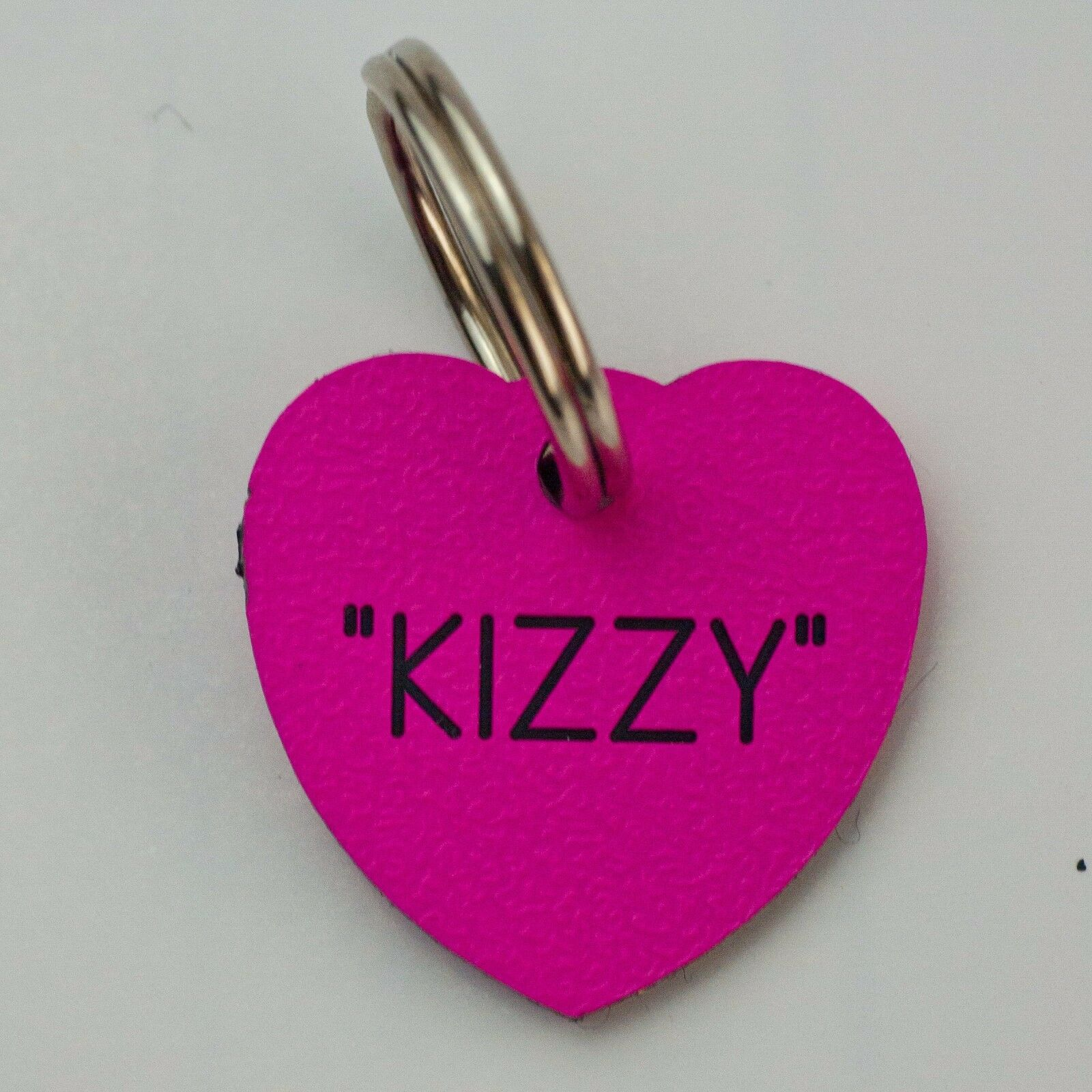 Quality Engraved Cat tag - Mini Heart 20mm