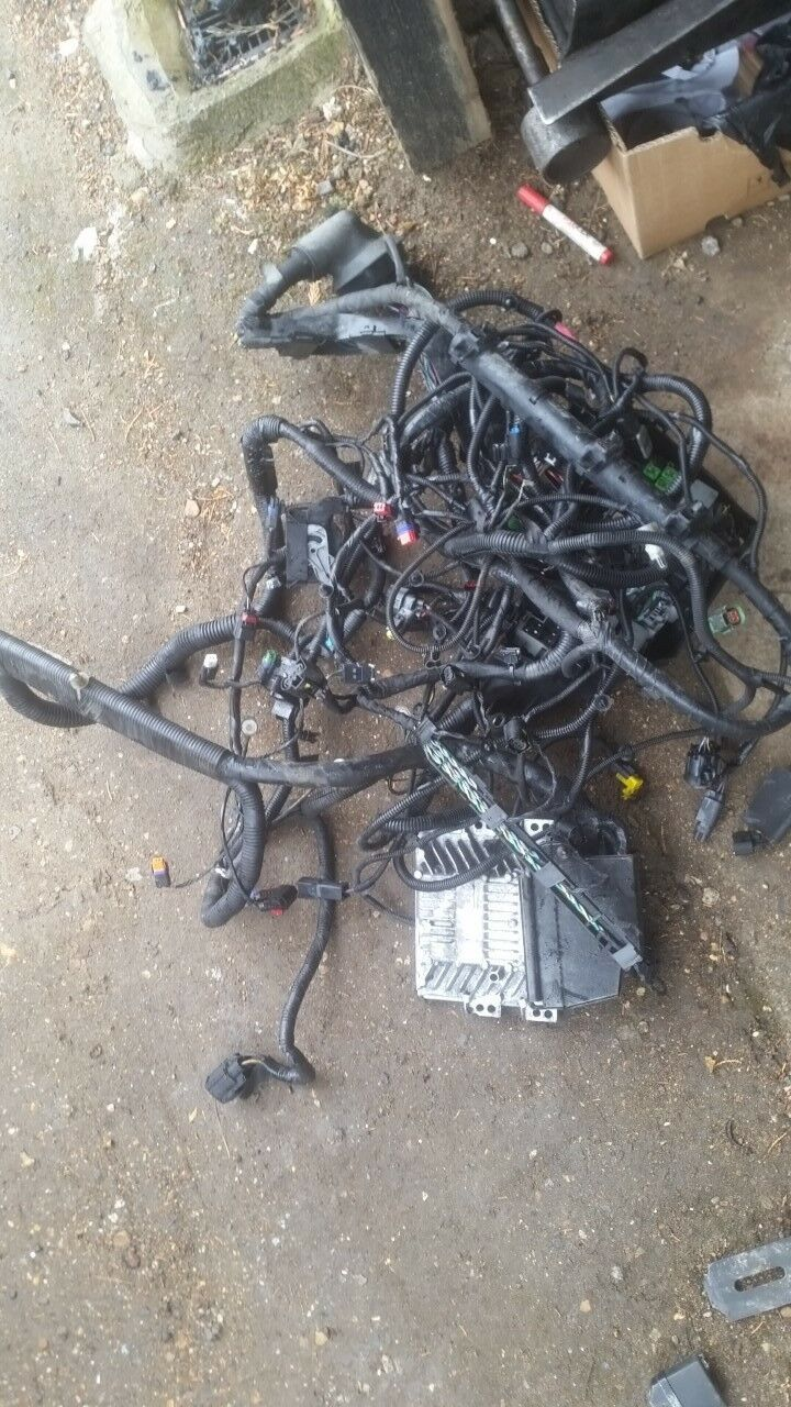 Ford Mondeo Mk4 Engine Wiring Loom Zetec Qxba 2 Litre With Manual Hinged Clamps Harness 1 Of 1only Available