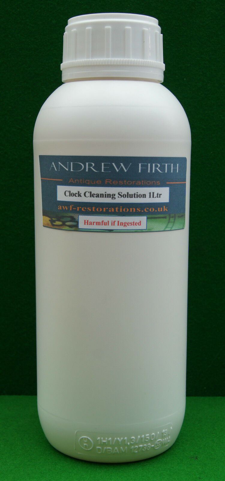 Antique clock cleaning solution 1 litre (concentrated)