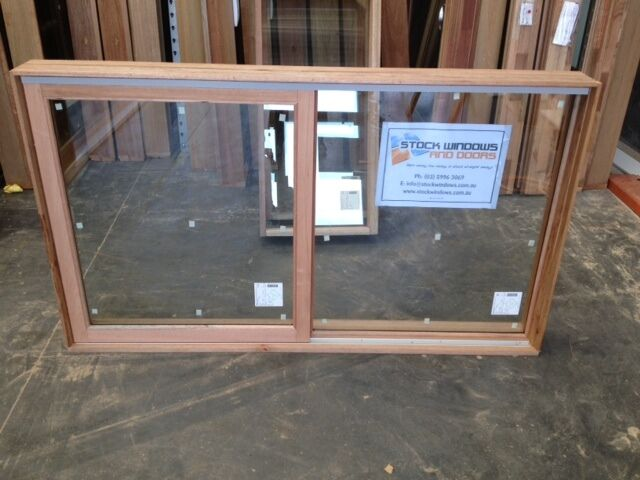 Timber sliding window 1017h x 1746w double glazed with for Sliding timber screens