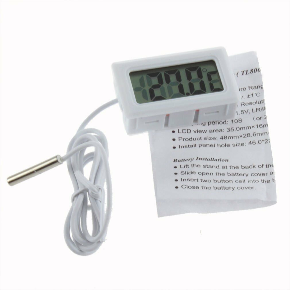 New LCD Digital Thermometer for Fridge/Freezer/Aquarium/FISH TANK Temperature NR