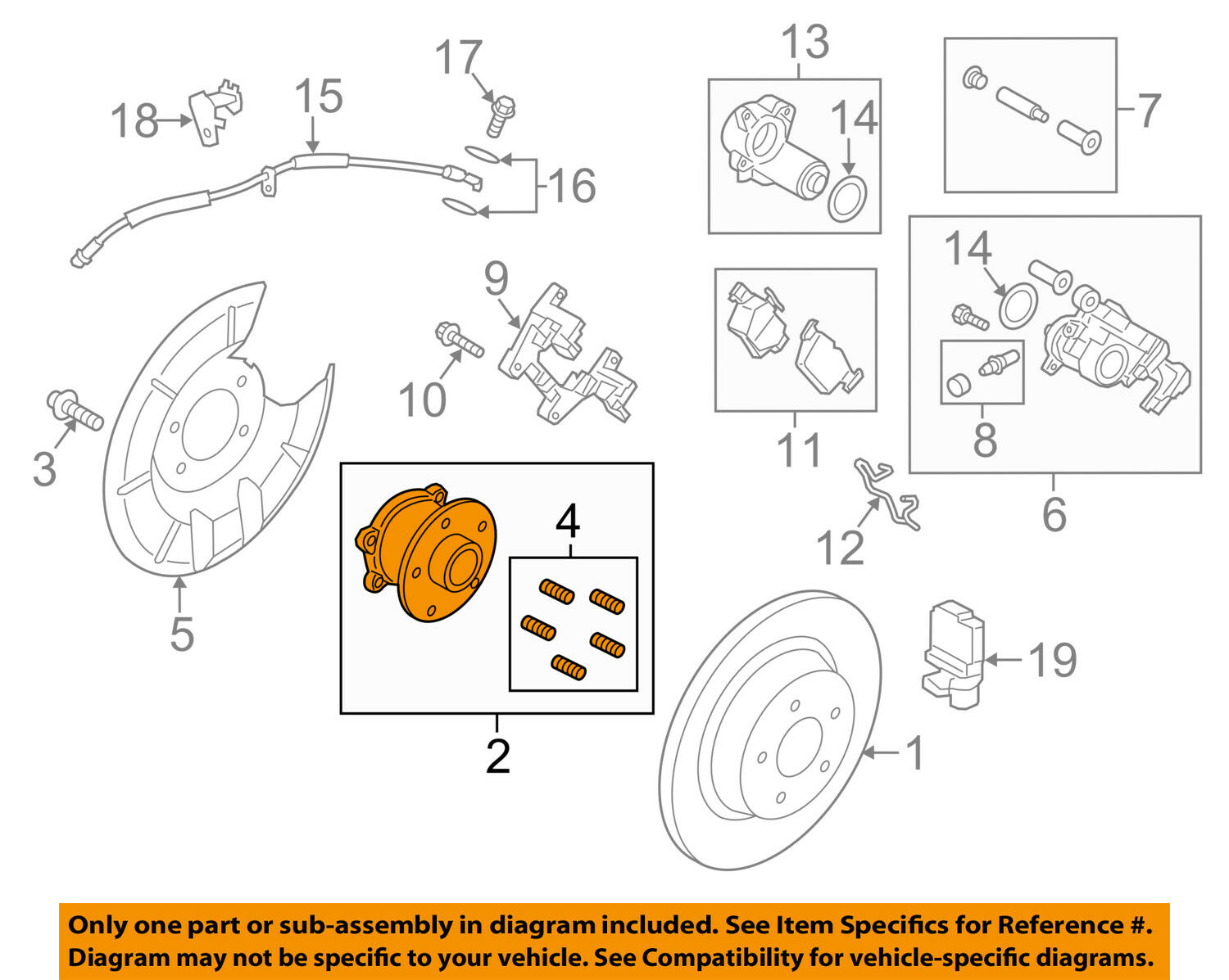 Ford Oem Rear Wheel Hub Bearing Cv6z1104h 13741 Picclick Diagram 1 Of 1only Available