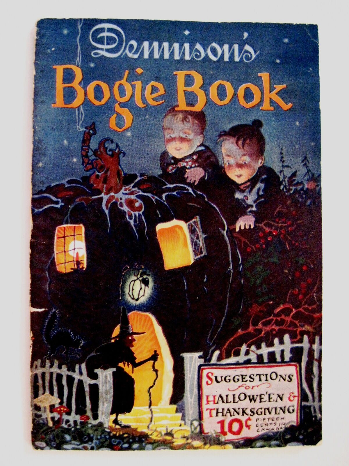 Rare vintage dennison 39 s bogie book halloween Vintage halloween decorations uk