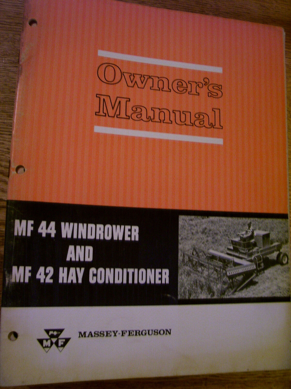 Vintage Massey Ferguson Operators Manual -# 44 Windrower & 42 Conditioner 1  of 1Only 1 available ...