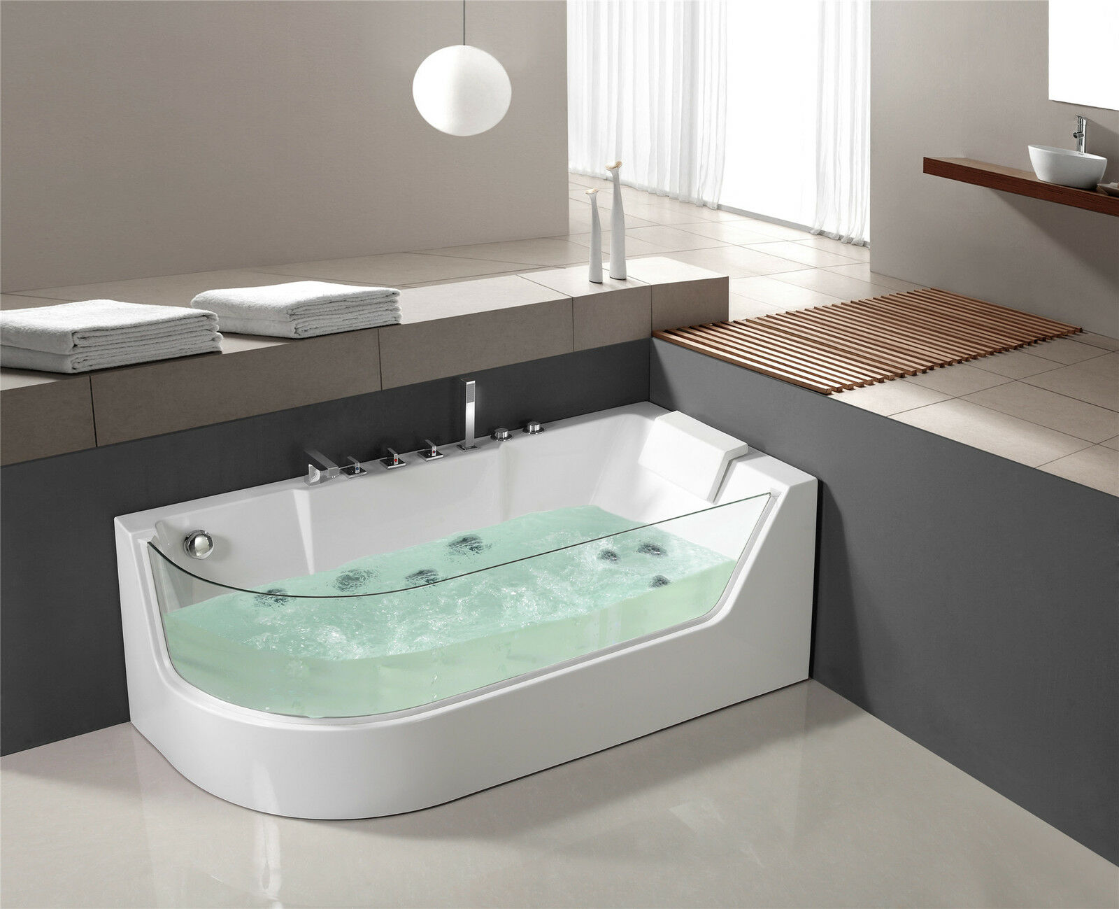 whirlpool eckwhirlpool badewanne jacuzzi whirlwanne pool. Black Bedroom Furniture Sets. Home Design Ideas