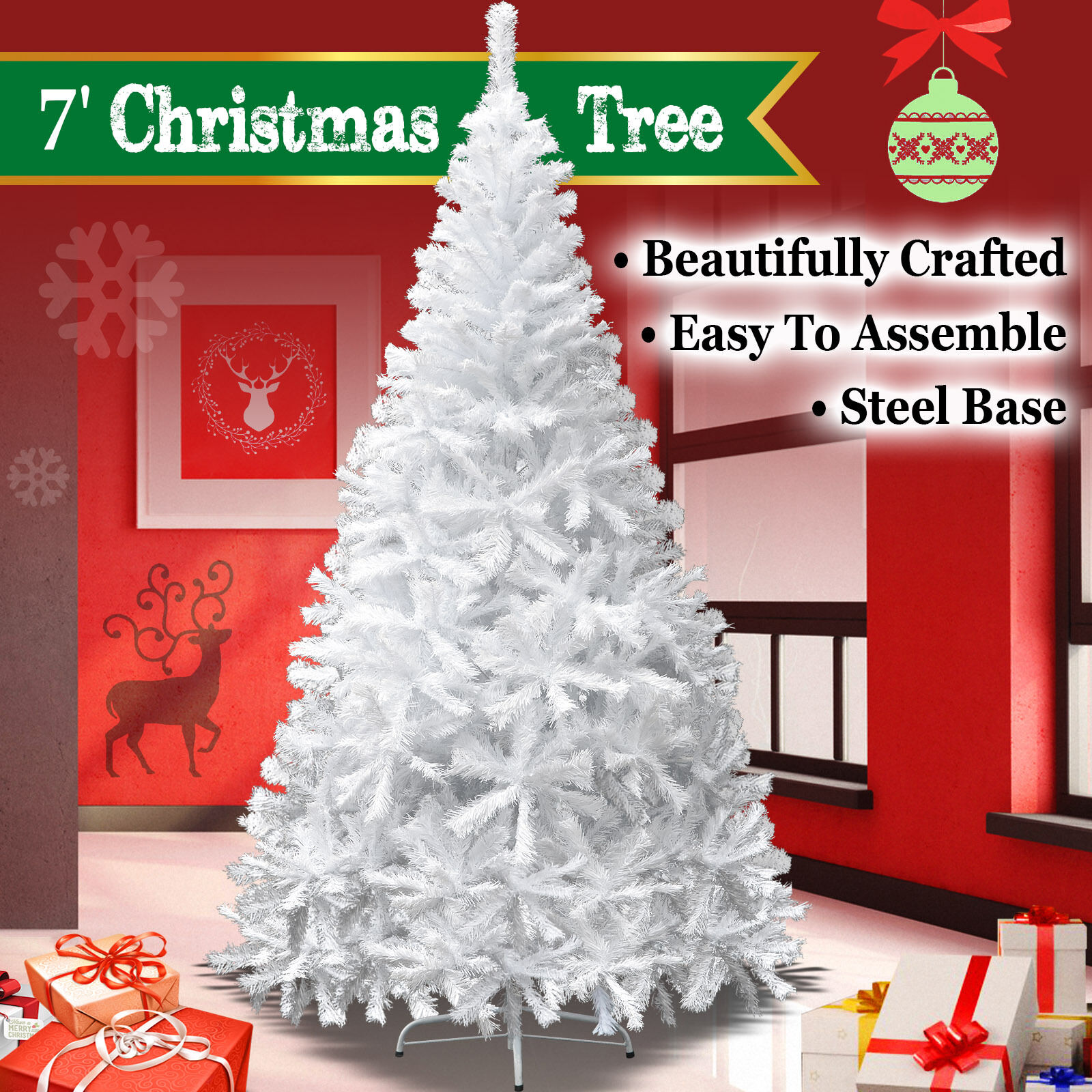 7ft artificial christmas tree 15 foot new 7ft artificial christmas tree w steel base holiday decoration xmas pinetree of 3free shipping 7ft artificial