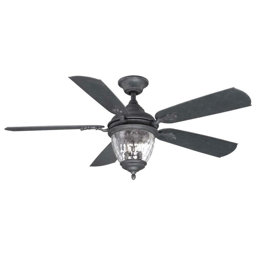 Bromley 52 In Led Indoor Outdoor Bronze Ceiling Fan With