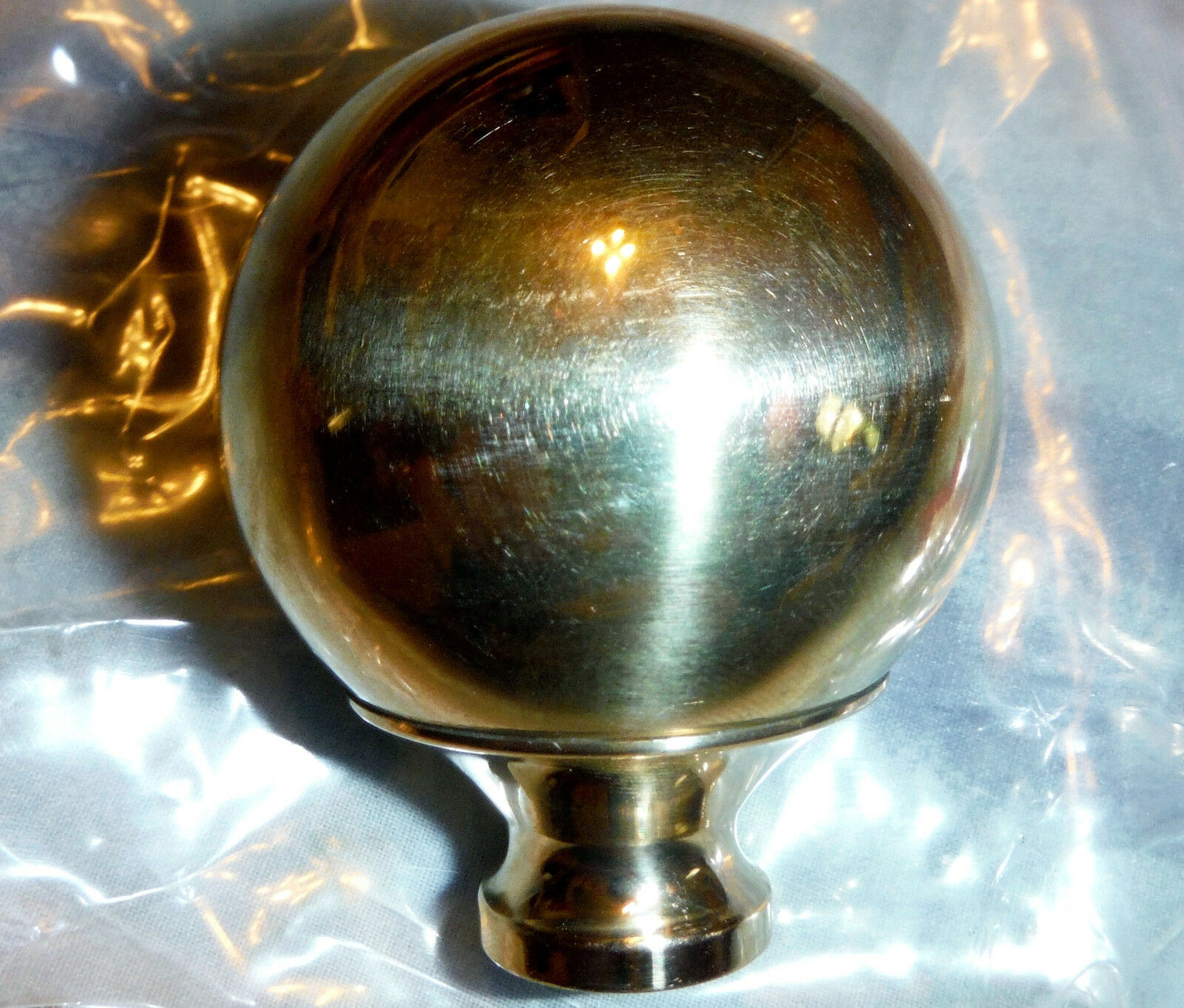 """One Brass 2"""" Finial That Fits Antique Iron & Brass Beds 3/8"""" thread hard to find"""