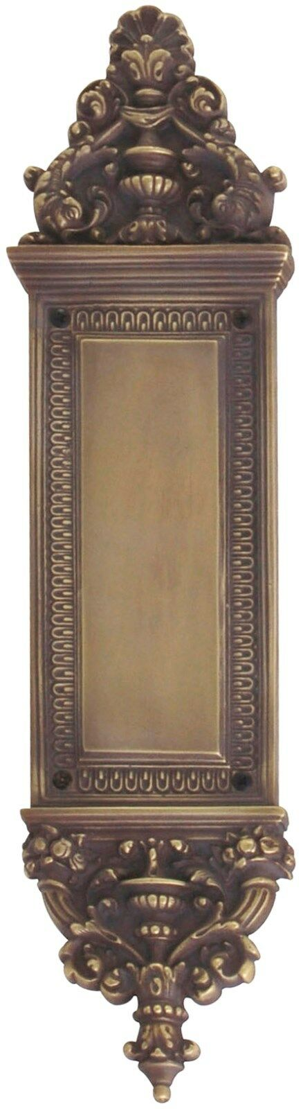 Renaissance Aged Brass Door Push Plates & brass screws, 3-5/8 in. X 14-3/4 in.