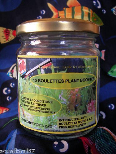 15 boulettes  engrais plante aquarium super booster made in france