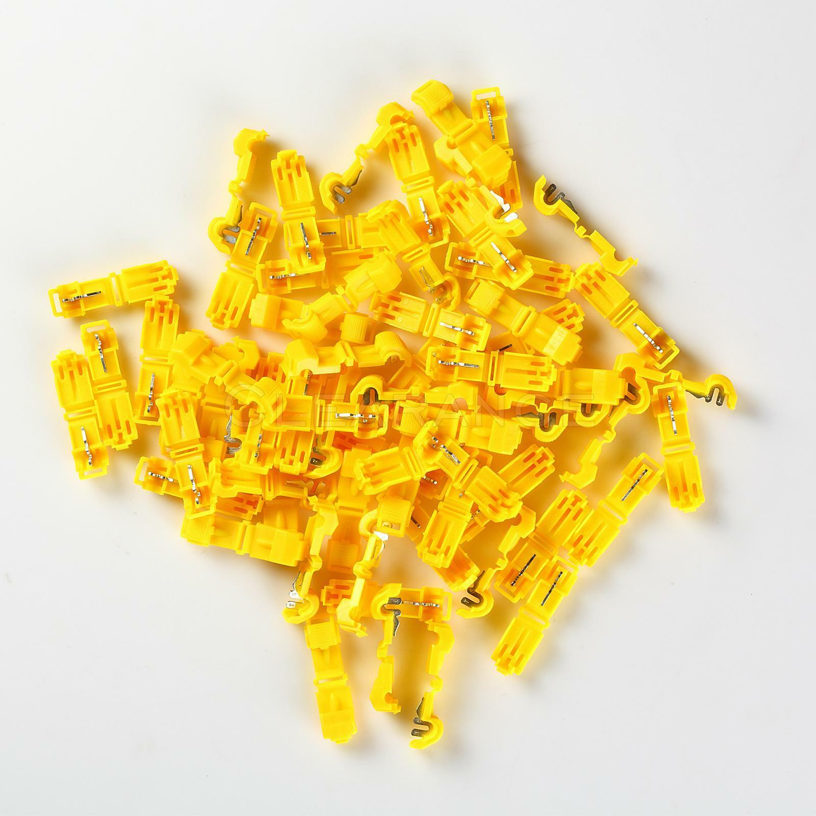 T Tap Quick Wire Connectors Yellow 12 10 Awg Gauge Car Audio Wiring 1 Of 3only 4 Available