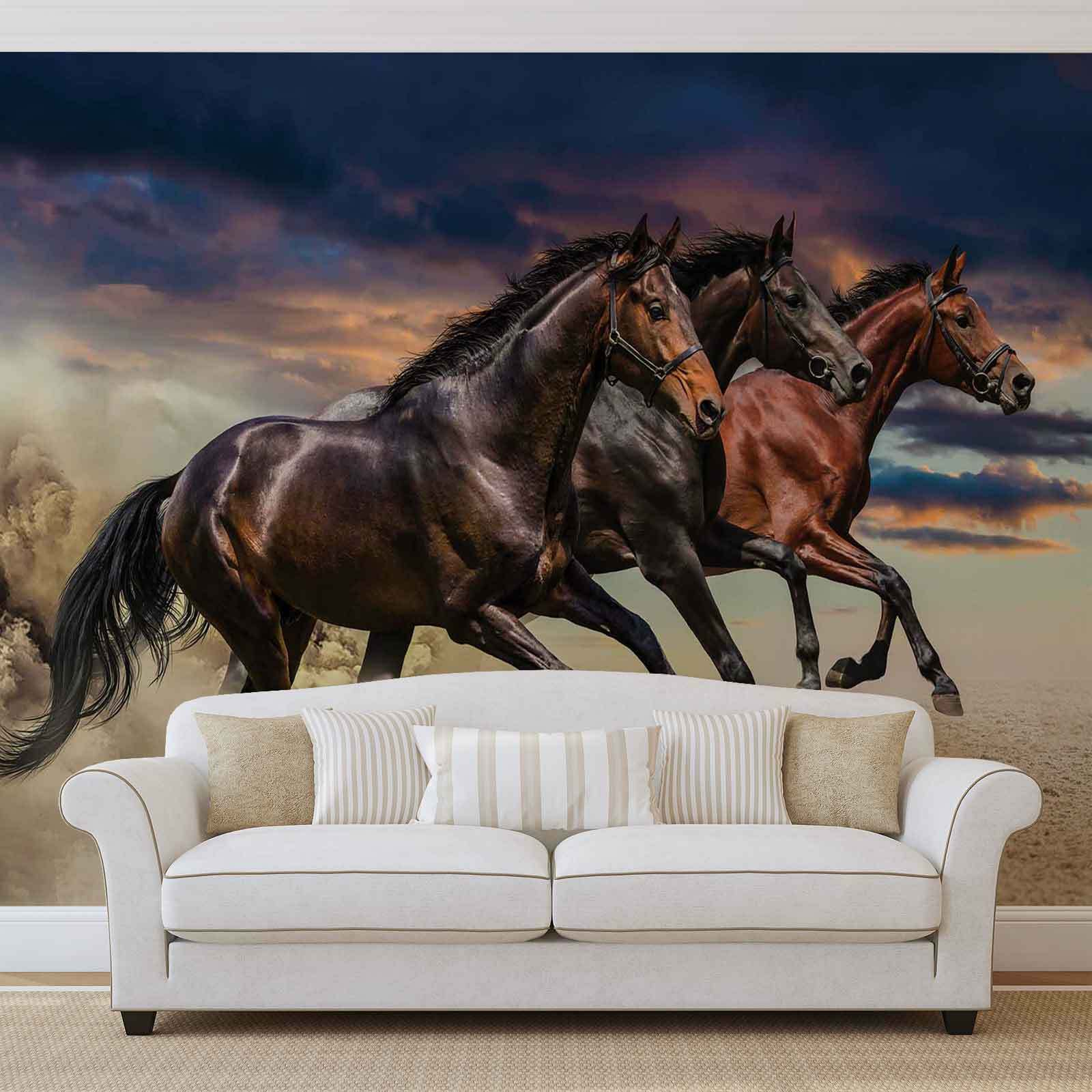 wall mural photo wallpaper xxl horse pony 1217ws cad picclick ca. Black Bedroom Furniture Sets. Home Design Ideas