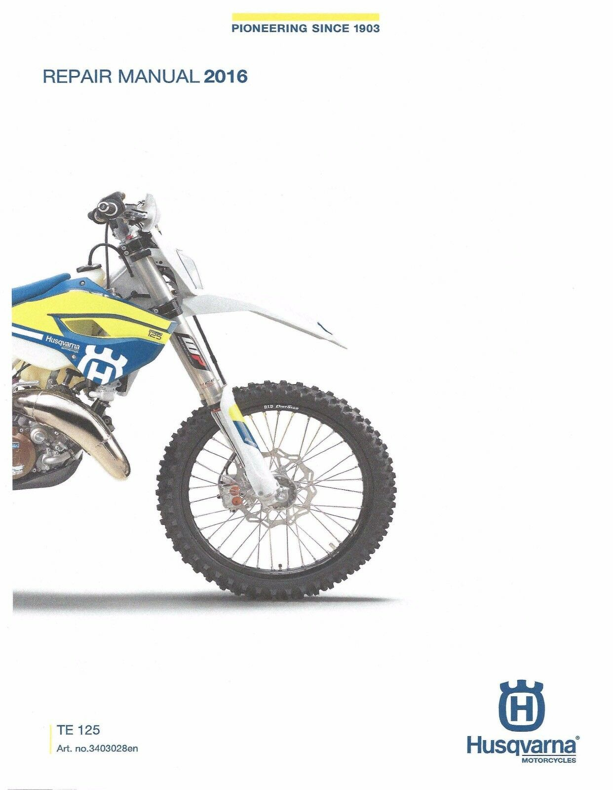 Husqvarna workshop service manual 2016 TE 125 1 of 10Only 1 available ...
