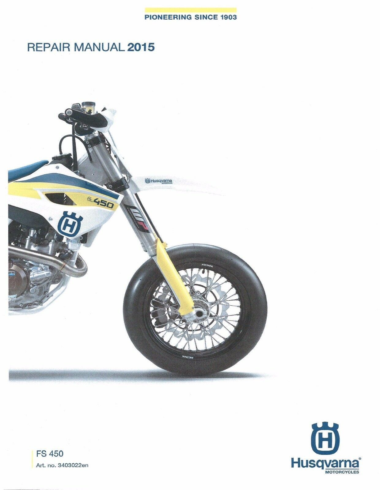 Husqvarna workshop service manual 2015 FS 450 1 of 6FREE Shipping ...