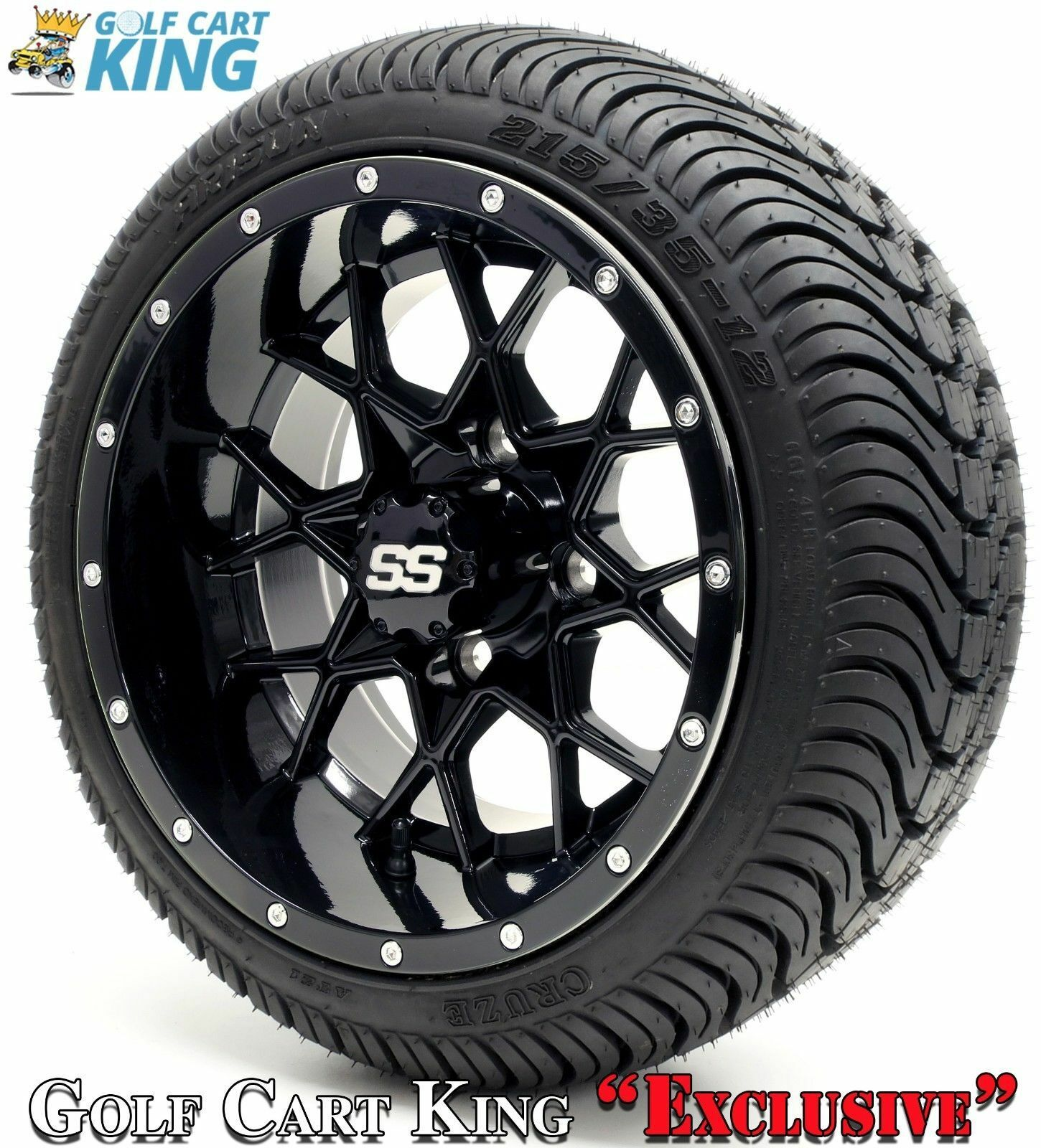 GOLF CART WHEELS and Tires - 12