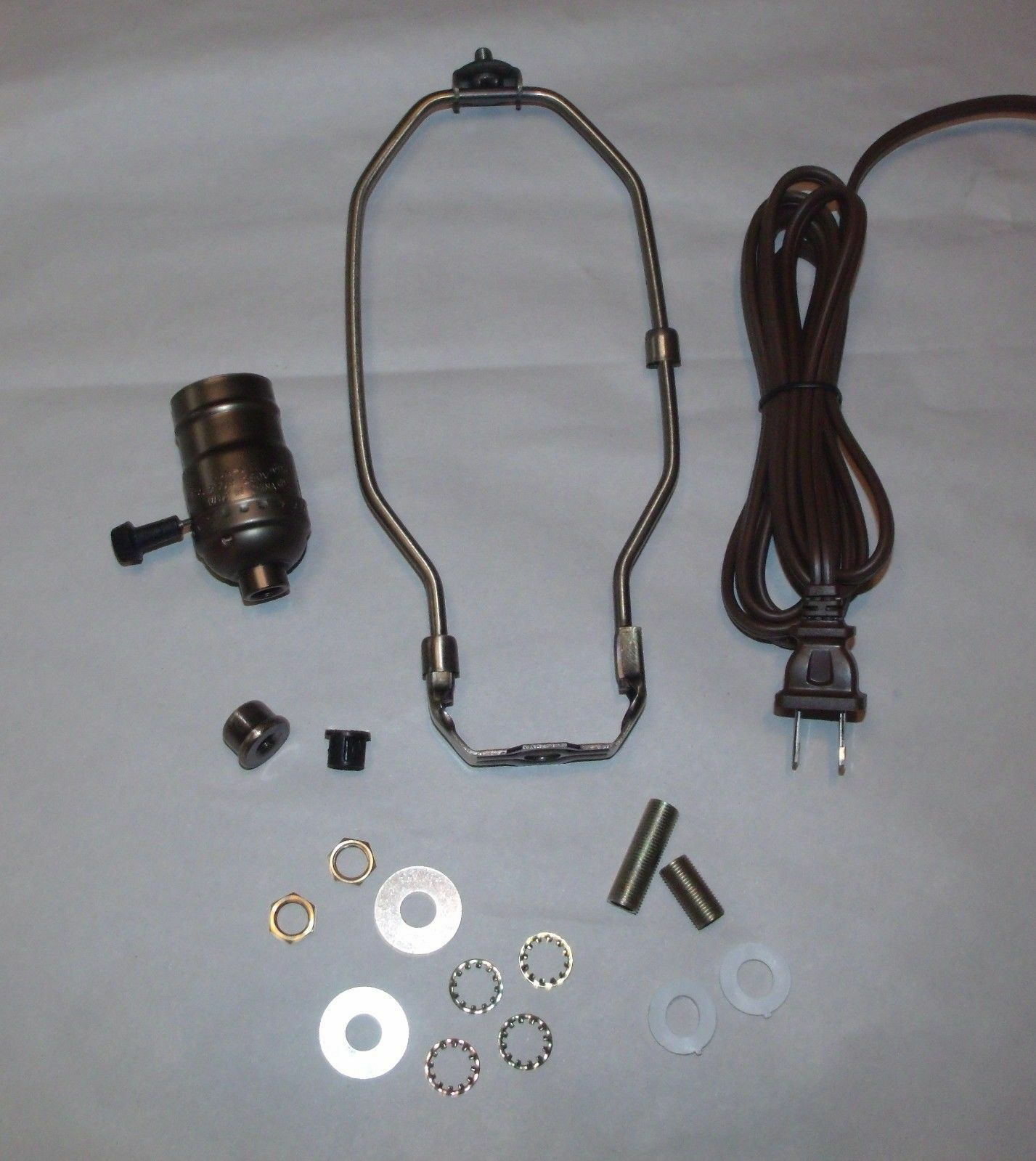 Antique Brass Make A Table Lamp Wiring Kit 3 Way Socket And 6 Rewiring Two 1 Of See More