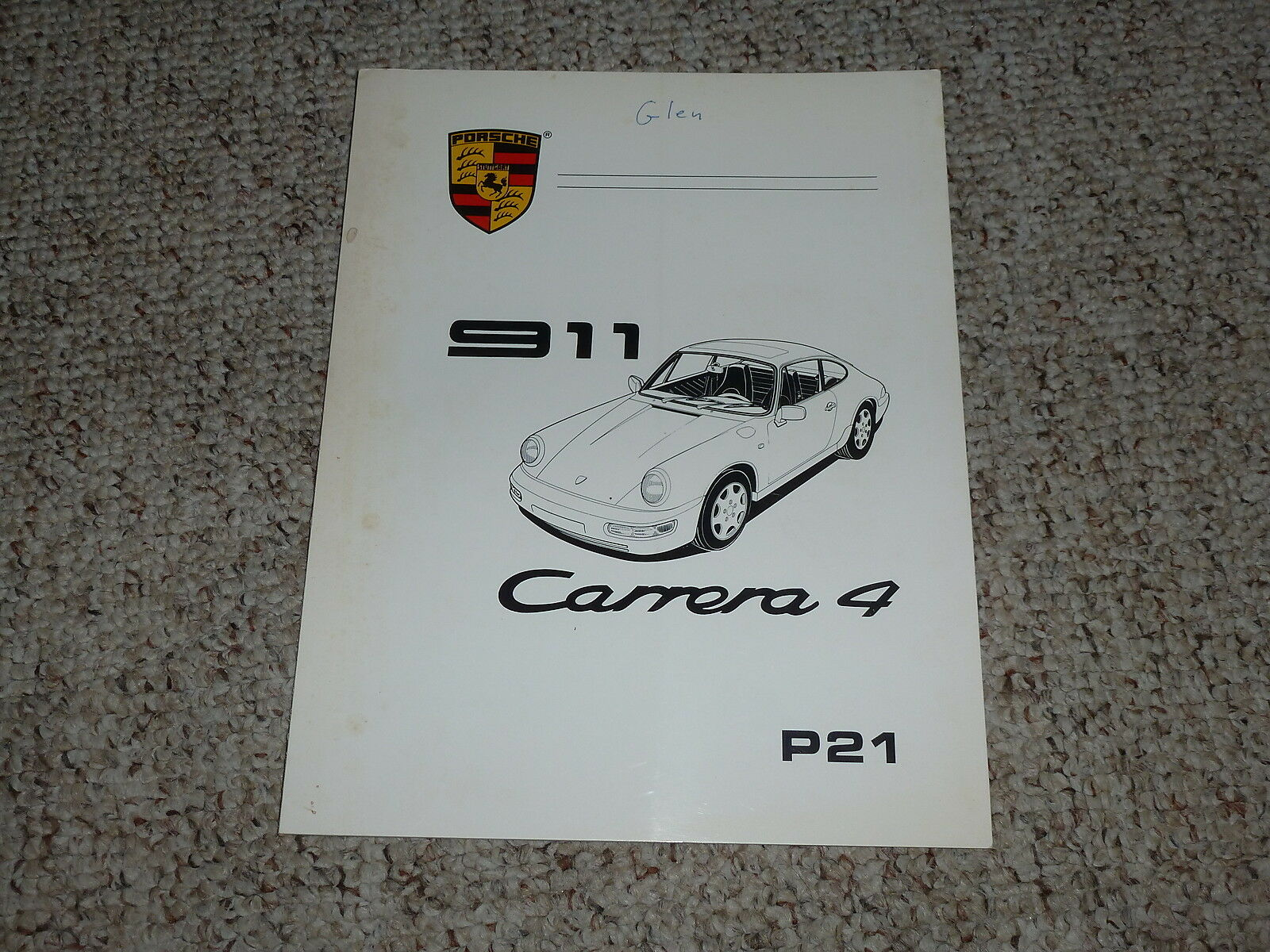 1989 Porsche 911 Carrera 4 Fuel & Ignition Repair Service Shop Workshop  Manual 1 of 1Only 1 available ...