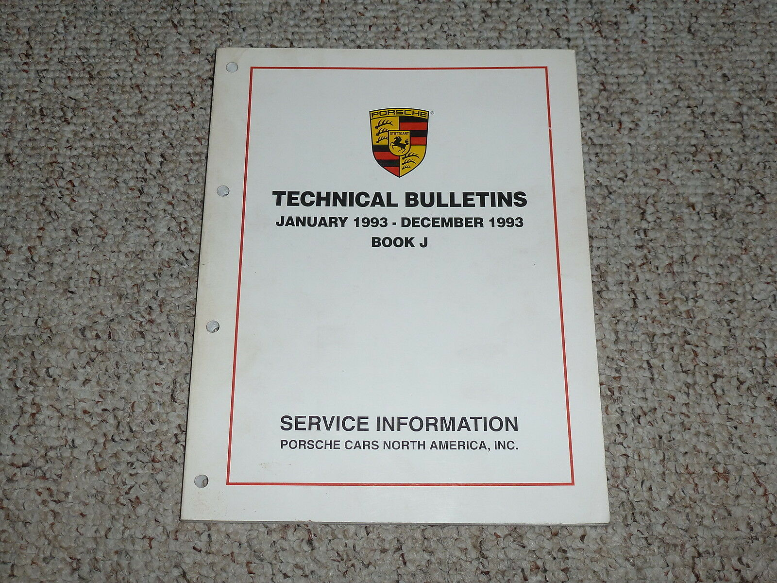 1993 Porsche 911 Carrera 2 4 911 Turbo Technical Bulletins Repair Service  Manual
