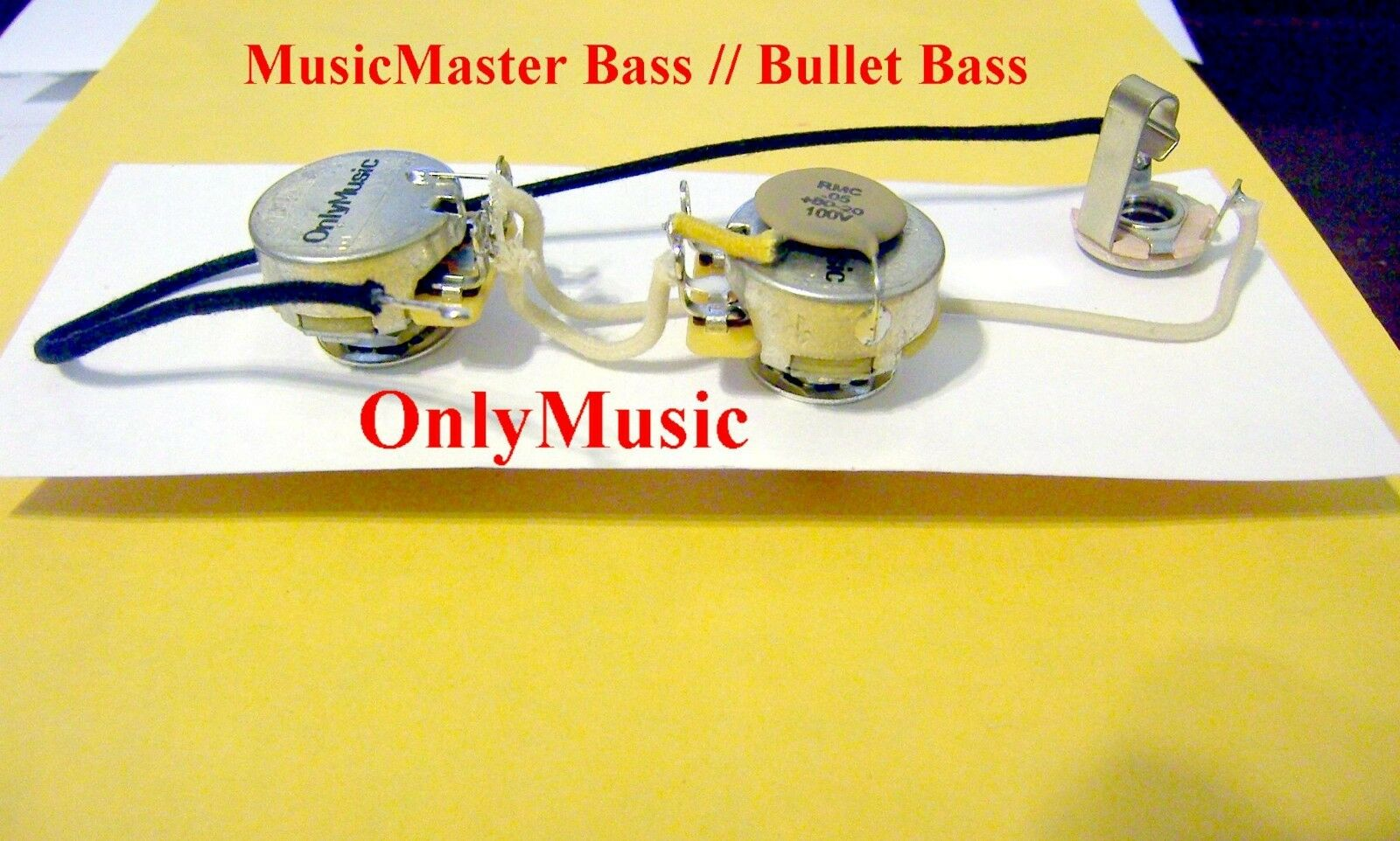 Compatible With Fender Musicmaster Bass Repro Vintage Wiring Harness 1 Of 1only 2 Available See More