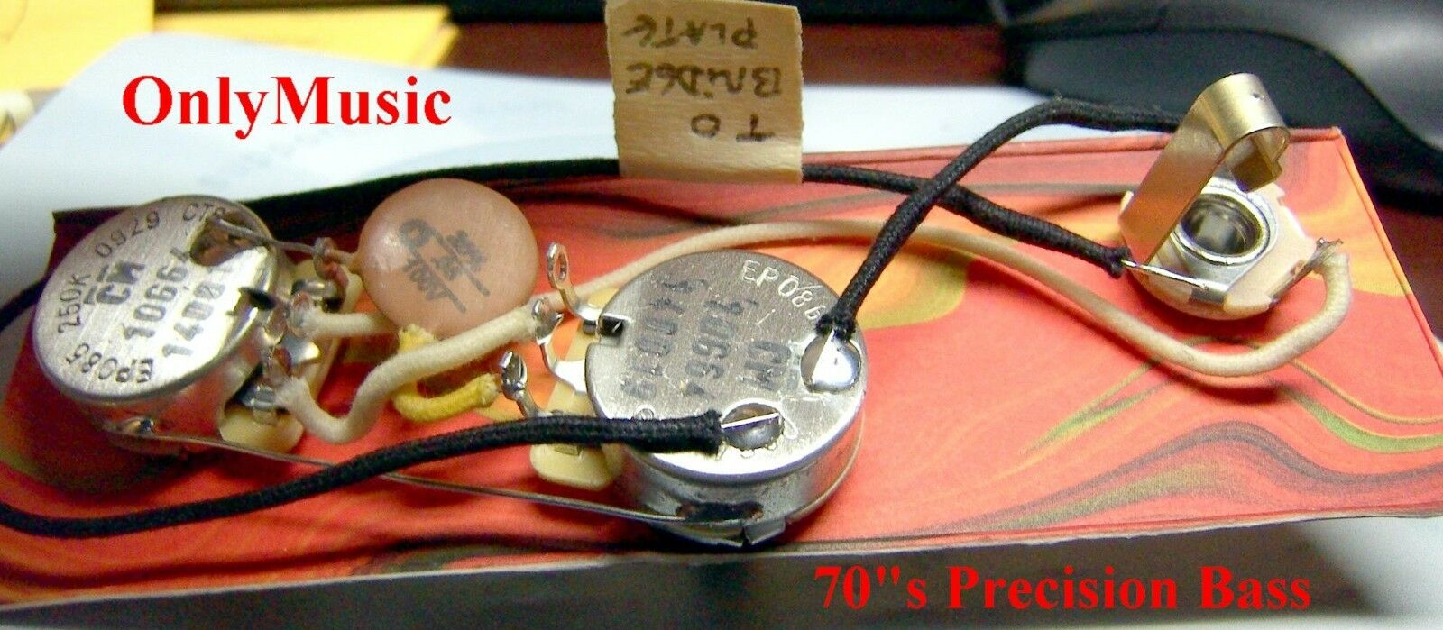 Compatible With Fender 70s Precision Bass Repro Vintage Wiring Harness 1 Of 1only 2 Available See More