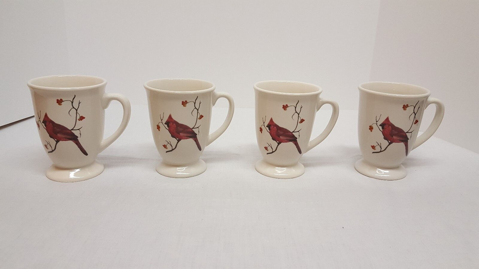 Set Of 4 Sonoma Home Goods Cardinal Coffee Tea Cups 1 7only Available See More